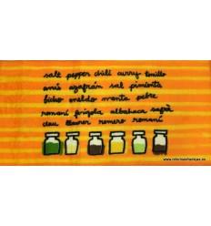 Delantal de cocina naranja