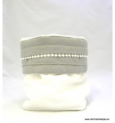 Ideal Bolsita Blanco y Gris