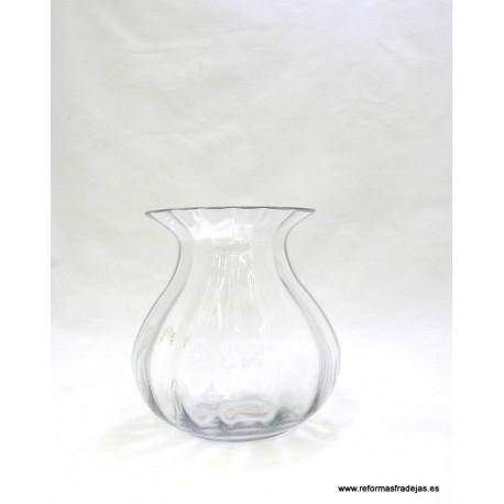 Jarrón de cristal transparente