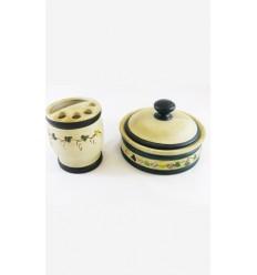 Juego cerámica artesano