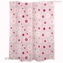 Cortina de ducha rosa fucsia