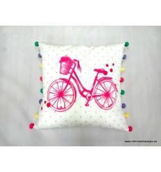 Cojín bici rosa fucsia