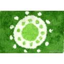 Alfombra de baño sol verde