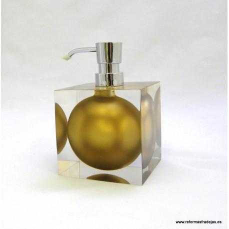 Dosificador acrílico oro