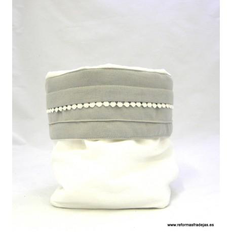 Bolsa algodón blanco y gris